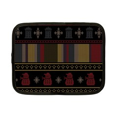 Tardis Doctor Who Ugly Holiday Netbook Case (small)  by Onesevenart