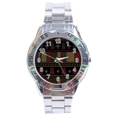 Tardis Doctor Who Ugly Holiday Stainless Steel Analogue Watch by Onesevenart