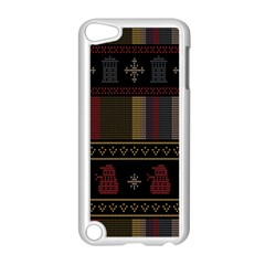 Tardis Doctor Who Ugly Holiday Apple Ipod Touch 5 Case (white) by Onesevenart