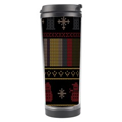 Tardis Doctor Who Ugly Holiday Travel Tumbler by Onesevenart