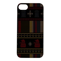 Tardis Doctor Who Ugly Holiday Apple Iphone 5s/ Se Hardshell Case by Onesevenart