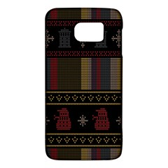 Tardis Doctor Who Ugly Holiday Galaxy S6 by Onesevenart