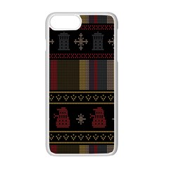 Tardis Doctor Who Ugly Holiday Apple Iphone 7 Plus White Seamless Case by Onesevenart
