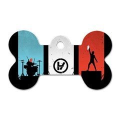 Twenty One 21 Pilots Dog Tag Bone (two Sides) by Onesevenart