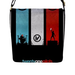Twenty One 21 Pilots Flap Messenger Bag (l)  by Onesevenart
