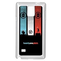Twenty One 21 Pilots Samsung Galaxy Note 4 Case (white) by Onesevenart