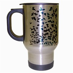 Twenty One Pilots Birds Travel Mug (silver Gray) by Onesevenart