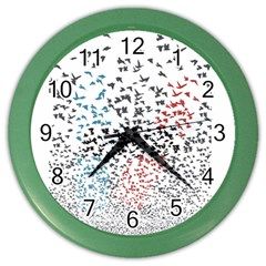 Twenty One Pilots Birds Color Wall Clocks by Onesevenart