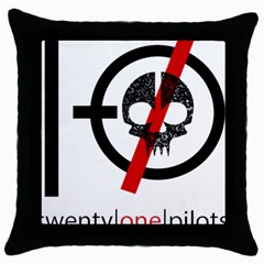 Twenty One Pilots Skull Throw Pillow Case (black) by Onesevenart