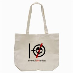 Twenty One Pilots Skull Tote Bag (cream) by Onesevenart
