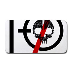 Twenty One Pilots Skull Medium Bar Mats by Onesevenart