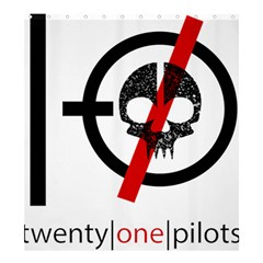 Twenty One Pilots Skull Shower Curtain 66  X 72  (large)  by Onesevenart