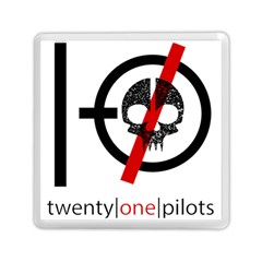 Twenty One Pilots Skull Memory Card Reader (square)  by Onesevenart