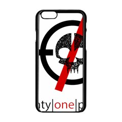 Twenty One Pilots Skull Apple Iphone 6/6s Black Enamel Case by Onesevenart