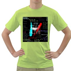 Twenty One Pilots Stay Alive Song Lyrics Quotes Green T Shirt by Onesevenart