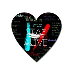 Twenty One Pilots Stay Alive Song Lyrics Quotes Heart Magnet by Onesevenart