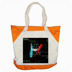 Twenty One Pilots Stay Alive Song Lyrics Quotes Accent Tote Bag by Onesevenart