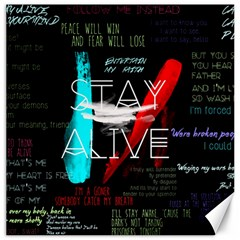 Twenty One Pilots Stay Alive Song Lyrics Quotes Canvas 12  X 12   by Onesevenart