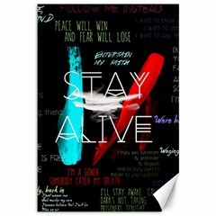 Twenty One Pilots Stay Alive Song Lyrics Quotes Canvas 12  X 18   by Onesevenart