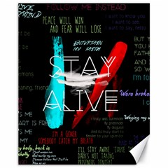 Twenty One Pilots Stay Alive Song Lyrics Quotes Canvas 11  X 14   by Onesevenart