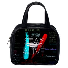 Twenty One Pilots Stay Alive Song Lyrics Quotes Classic Handbags (one Side) by Onesevenart