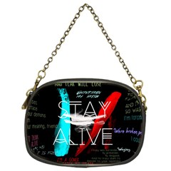 Twenty One Pilots Stay Alive Song Lyrics Quotes Chain Purses (one Side)  by Onesevenart