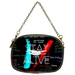 Twenty One Pilots Stay Alive Song Lyrics Quotes Chain Purses (two Sides)  by Onesevenart