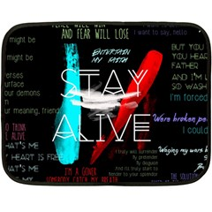 Twenty One Pilots Stay Alive Song Lyrics Quotes Double Sided Fleece Blanket (mini)  by Onesevenart