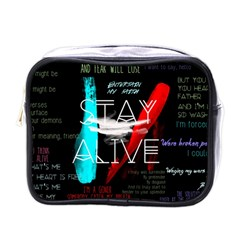 Twenty One Pilots Stay Alive Song Lyrics Quotes Mini Toiletries Bags by Onesevenart