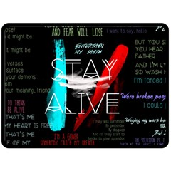 Twenty One Pilots Stay Alive Song Lyrics Quotes Fleece Blanket (large)  by Onesevenart