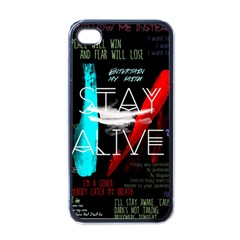 Twenty One Pilots Stay Alive Song Lyrics Quotes Apple Iphone 4 Case (black) by Onesevenart