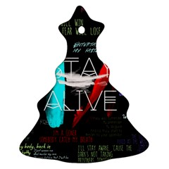 Twenty One Pilots Stay Alive Song Lyrics Quotes Ornament (christmas Tree)  by Onesevenart