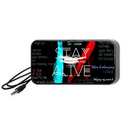 Twenty One Pilots Stay Alive Song Lyrics Quotes Portable Speaker (black) by Onesevenart