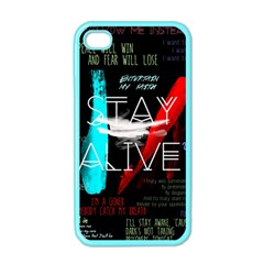 Twenty One Pilots Stay Alive Song Lyrics Quotes Apple Iphone 4 Case (color) by Onesevenart