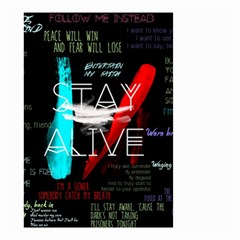 Twenty One Pilots Stay Alive Song Lyrics Quotes Small Garden Flag (two Sides) by Onesevenart