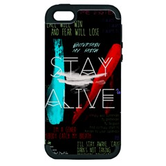 Twenty One Pilots Stay Alive Song Lyrics Quotes Apple Iphone 5 Hardshell Case (pc+silicone) by Onesevenart