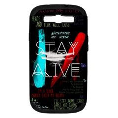Twenty One Pilots Stay Alive Song Lyrics Quotes Samsung Galaxy S Iii Hardshell Case (pc+silicone) by Onesevenart