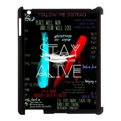 Twenty One Pilots Stay Alive Song Lyrics Quotes Apple Ipad 3/4 Case (black) by Onesevenart