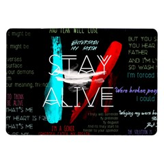 Twenty One Pilots Stay Alive Song Lyrics Quotes Samsung Galaxy Tab 10 1  P7500 Flip Case by Onesevenart