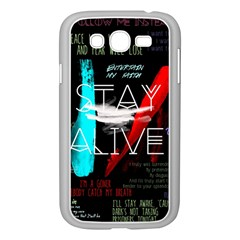Twenty One Pilots Stay Alive Song Lyrics Quotes Samsung Galaxy Grand Duos I9082 Case (white) by Onesevenart