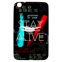 Twenty One Pilots Stay Alive Song Lyrics Quotes Samsung Galaxy Tab 3 (8 ) T3100 Hardshell Case  by Onesevenart