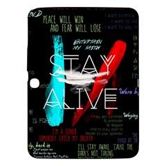 Twenty One Pilots Stay Alive Song Lyrics Quotes Samsung Galaxy Tab 3 (10 1 ) P5200 Hardshell Case  by Onesevenart
