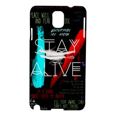Twenty One Pilots Stay Alive Song Lyrics Quotes Samsung Galaxy Note 3 N9005 Hardshell Case by Onesevenart