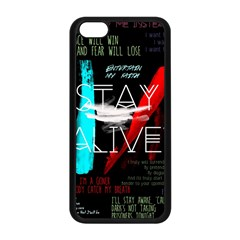 Twenty One Pilots Stay Alive Song Lyrics Quotes Apple Iphone 5c Seamless Case (black) by Onesevenart