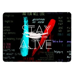 Twenty One Pilots Stay Alive Song Lyrics Quotes Samsung Galaxy Tab Pro 12 2  Flip Case by Onesevenart