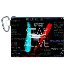 Twenty One Pilots Stay Alive Song Lyrics Quotes Canvas Cosmetic Bag (xl) by Onesevenart