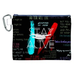 Twenty One Pilots Stay Alive Song Lyrics Quotes Canvas Cosmetic Bag (xxl) by Onesevenart