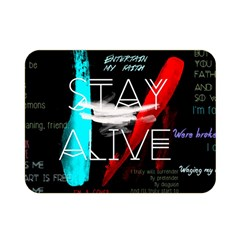 Twenty One Pilots Stay Alive Song Lyrics Quotes Double Sided Flano Blanket (mini)  by Onesevenart