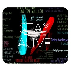 Twenty One Pilots Stay Alive Song Lyrics Quotes Double Sided Flano Blanket (small)  by Onesevenart