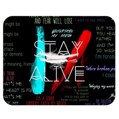 Twenty One Pilots Stay Alive Song Lyrics Quotes Double Sided Flano Blanket (medium)  by Onesevenart